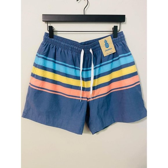 "C8 chubbies the retro 5.5"" classic swim trunk shorts large men's new NWT striped"